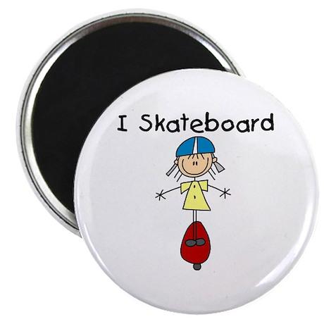 """Girl I Skateboard 2.25"""" Magnet (100 pack)"""