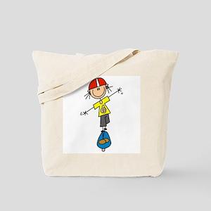 Girl Skateboarder Tote Bag