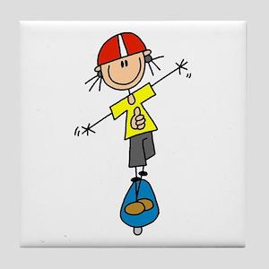 Girl Skateboarder Tile Coaster