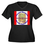 Arizona-1 Women's Plus Size V-Neck Dark T-Shirt