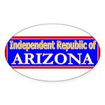 Arizona-2 Oval Sticker (50 pk)
