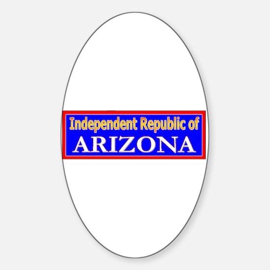 Arizona-2 Oval Decal