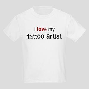 I love my Tattoo Artist Kids Light T-Shirt