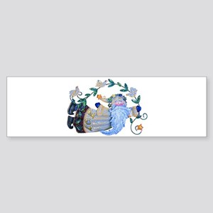 FOLK ART SANTA Bumper Sticker