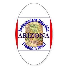 Arizona-3 Oval Decal
