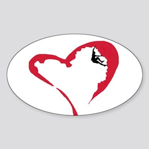 Heart Climber Oval Sticker