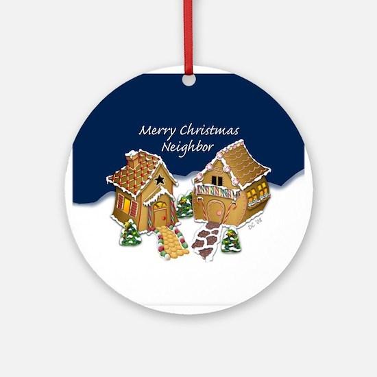 Merry Christmas Neighbor (round) Round Ornament
