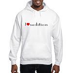 """""""I [heart] sedition"""" Hooded Sweatshirt"""