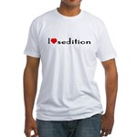 """""""I [heart] sedition"""" Fitted T-Shirt"""