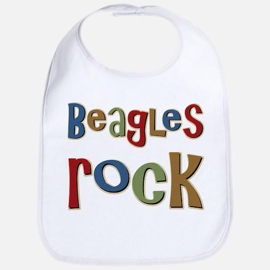 Beagles Rock Dog Owner Lover Bib