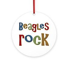 Beagles Rock Dog Owner Lover Ornament (Round)