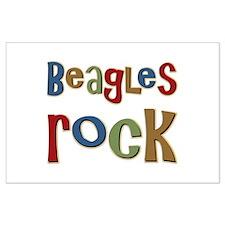 Beagles Rock Dog Owner Lover Large Poster