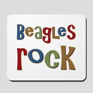 Beagles Rock Dog Owner Lover Mousepad