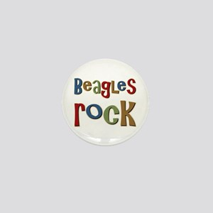 Beagles Rock Dog Owner Lover Mini Button