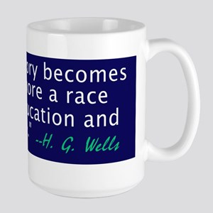 H G Wells history quote coffee mug
