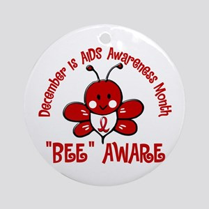 AIDS Awareness Month 4.2 Ornament (Round)