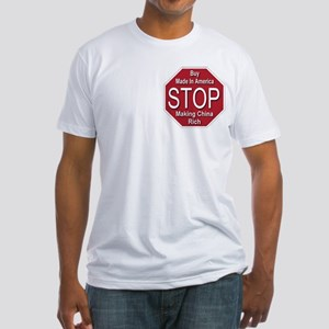 STOP Making China Rich Fitted T-Shirt