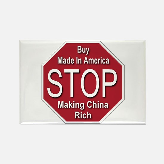 STOP Making China Rich Rectangle Magnet