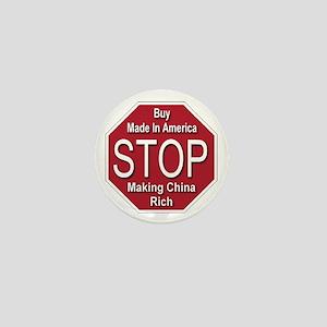 STOP Making China Rich Mini Button