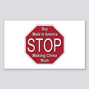 STOP Making China Rich Rectangle Sticker