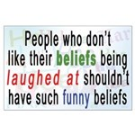"""""""Funny Beliefs"""" Large Poster"""