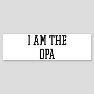 I am the Opa Bumper Sticker