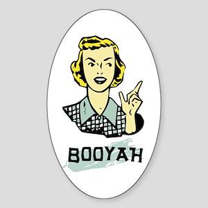 Booyah Oval Sticker