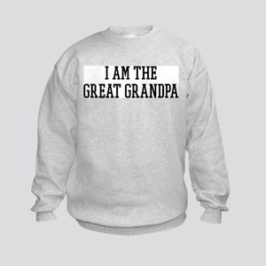 I am the Great Grandpa Kids Sweatshirt