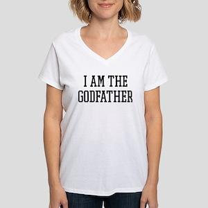 I am the Godfather Women's V-Neck T-Shirt