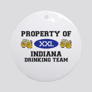 Property of Indiana Drinking Team Ornament (Round)