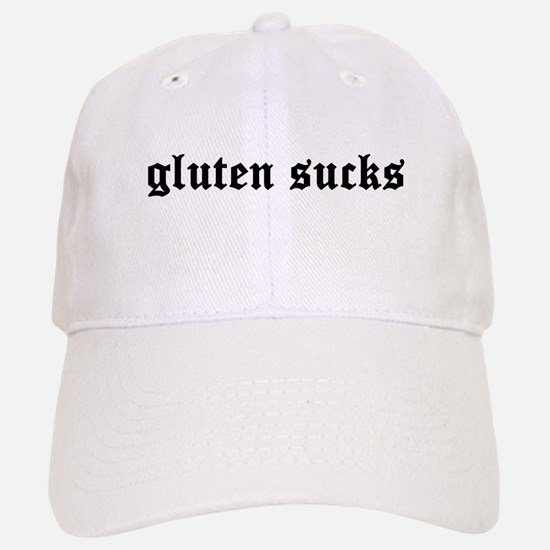 gluten sucks Baseball Baseball Cap