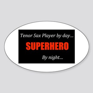 Tenor Sax Gift Oval Sticker