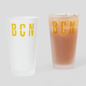 BCN - Barcelona Spain- Airport Code Drinking Glass