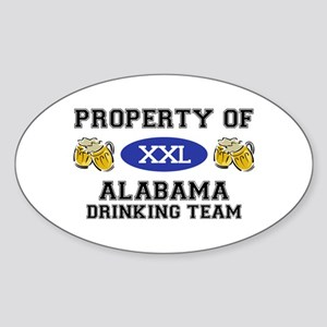 Property of Alabama Drinking Team Oval Sticker