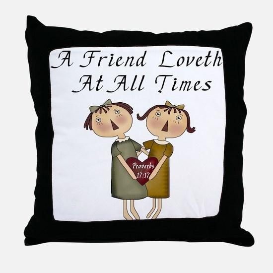 Probverbs 17:17 Throw Pillow