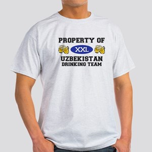 Property of Uzbekistan Drinking Team Light T-Shirt