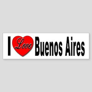 I Love Buenos Aires Argentina Bumper Sticker