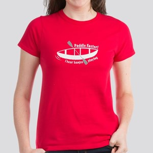 Paddle Faster! I hear banjos Women's Dark T-Shirt