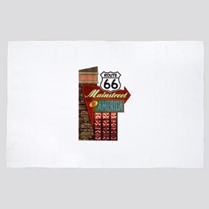 Historic Route 66 4' x 6' Rug