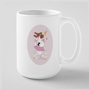 Basset Hound Ballerina Oval Large Mug