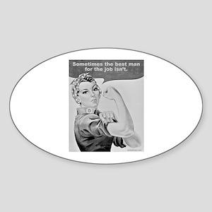 WORKING WOMEN Oval Sticker