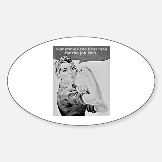 WORKING WOMEN Oval Decal