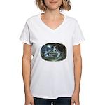 Visit at Moonlight Women's V-Neck T-Shirt