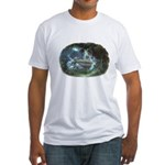 Visit at Moonlight Fitted T-Shirt