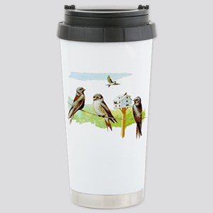 Purple Martin Bird Stainless Steel Travel Mug
