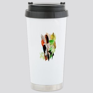 Red Headed Woodpecker Stainless Steel Travel Mug