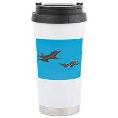 F16 Fighter Stainless Steel Travel Mug