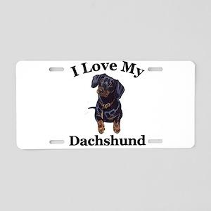 lovedachshund Aluminum License Plate