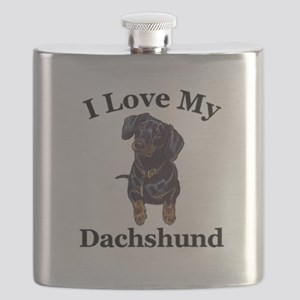 lovedachshund Flask