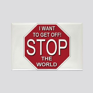 Stop The World Rectangle Magnet